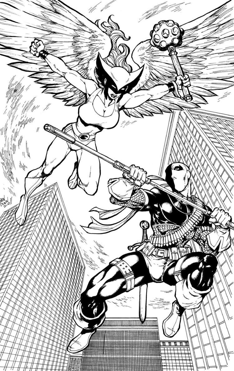 Free Deathstroke Vs Deadpool Coloring Pages 1