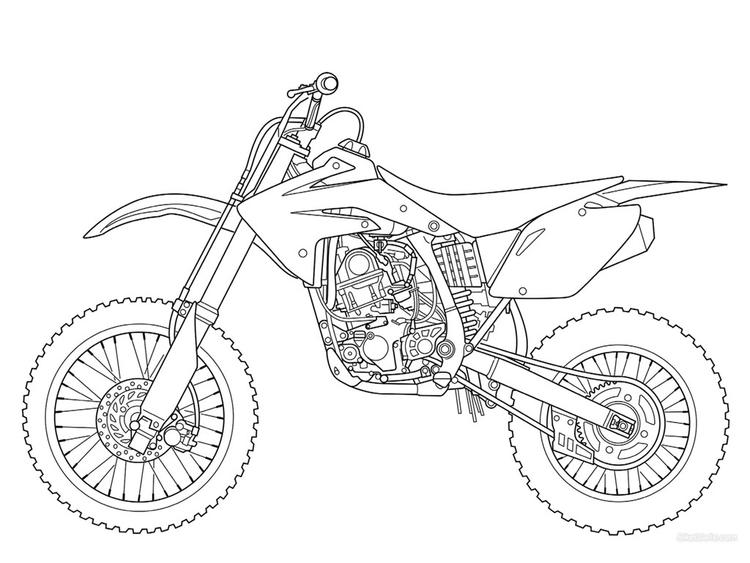 Free Dirt Bike Coloring Pages To Print