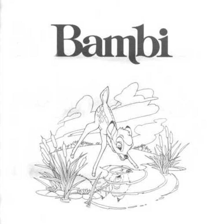 Free disney bambi coloring pages