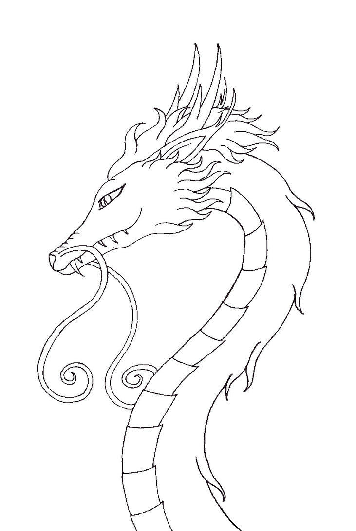 Free Dragon Head Coloring Pages For Kids