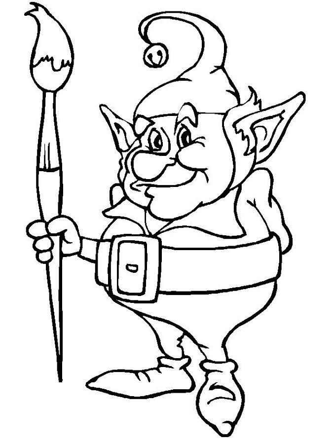 Free Elf Coloring Pages To Print