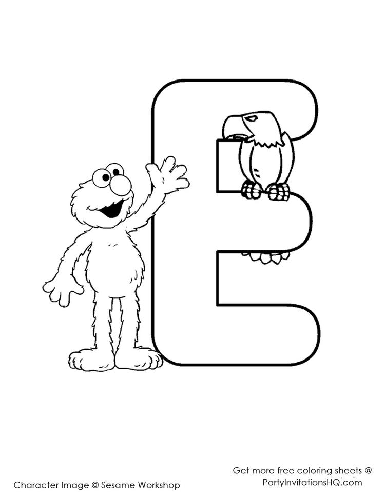 Free Elmo Abc Coloring Pages
