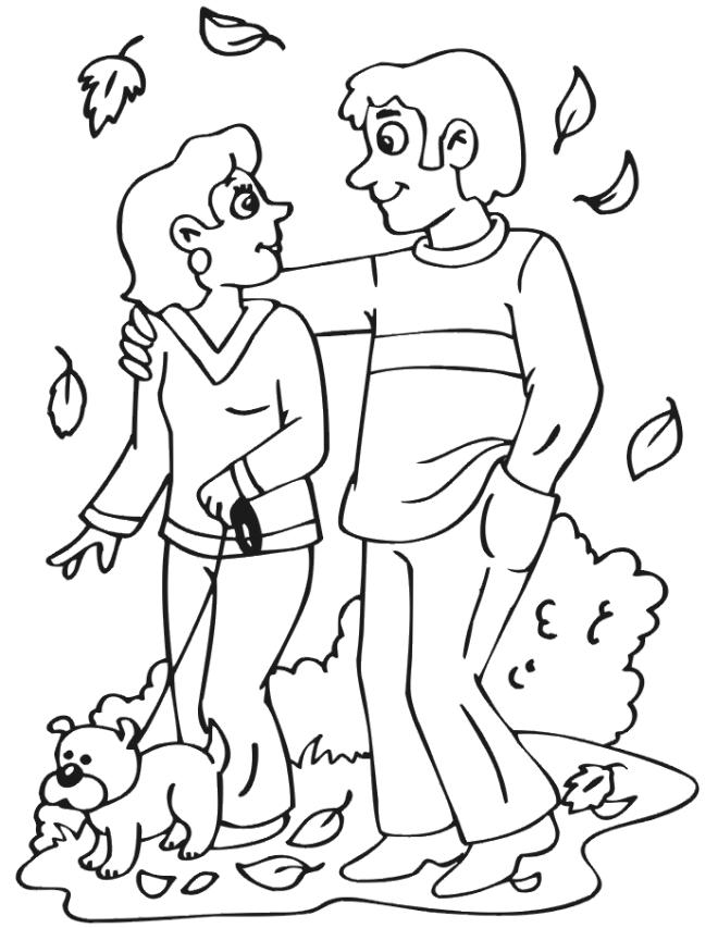 Free Fall Coloring Pages For Toddler