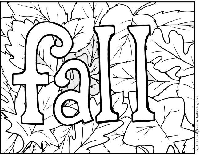 Free Fall Toddler Coloring Pages