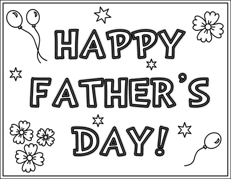 Free Fathers Day Coloring Pages