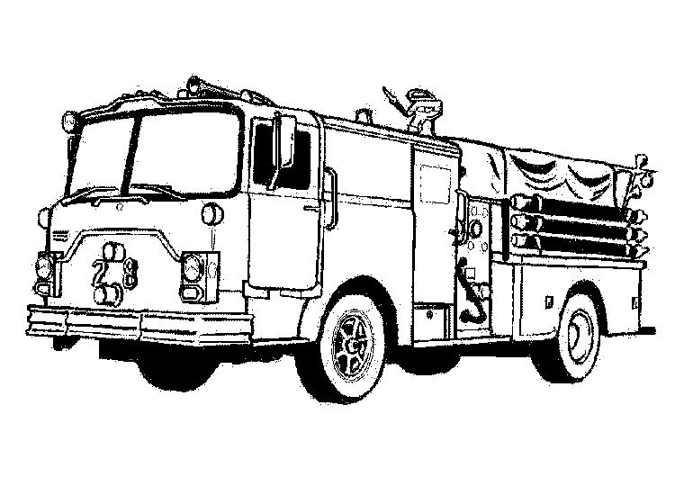 Free Fire Truck Coloring Pages For Kids