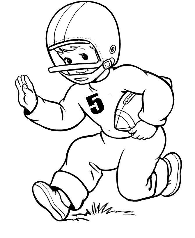 Free Football Player Coloring Pages For Kids