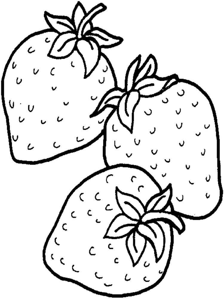 Free Fruit Coloring Pages Strawberry
