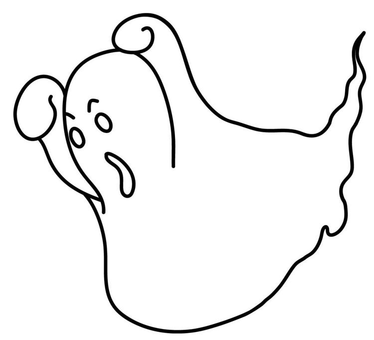Free Ghost Coloring Pages For Kids