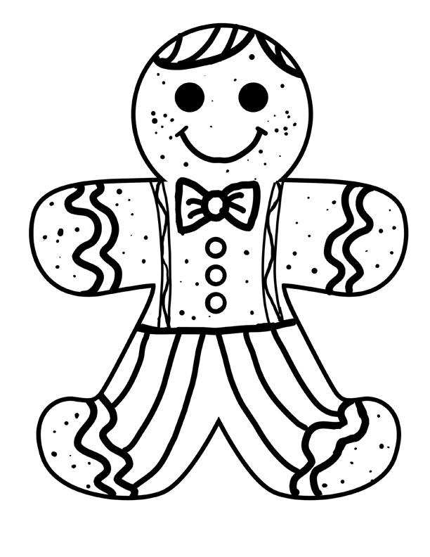 Free Gingerbread Man Coloring Pages To Print