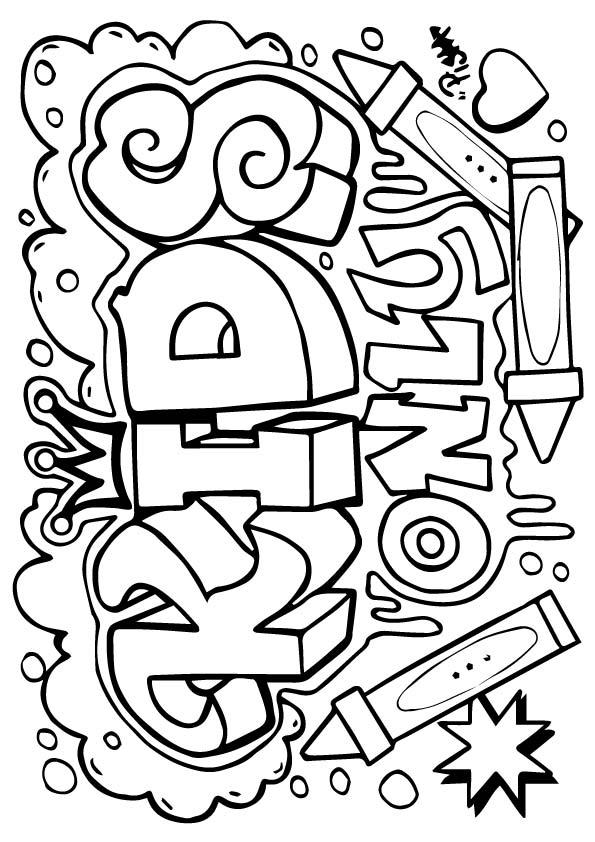 Free Graffiti Coloring Pages For Kids