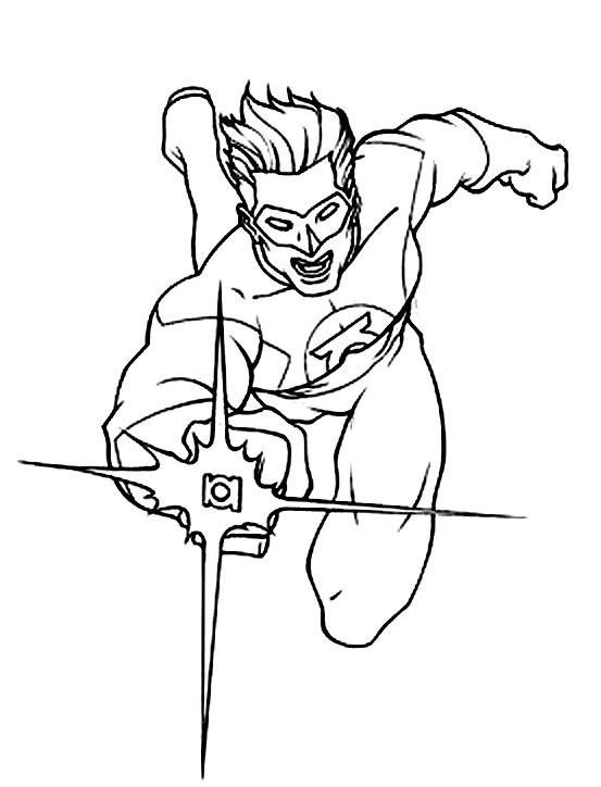 Free Green Lantern Coloring Pages For Kids