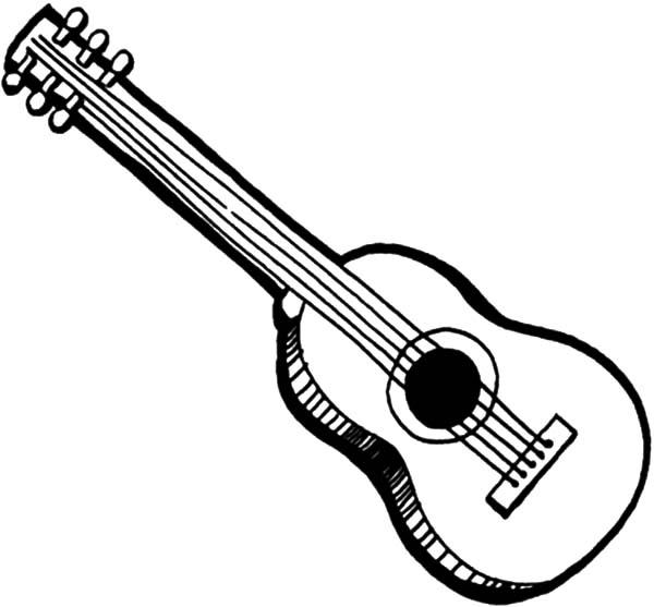 Free Guitar Coloring Pages For Kids