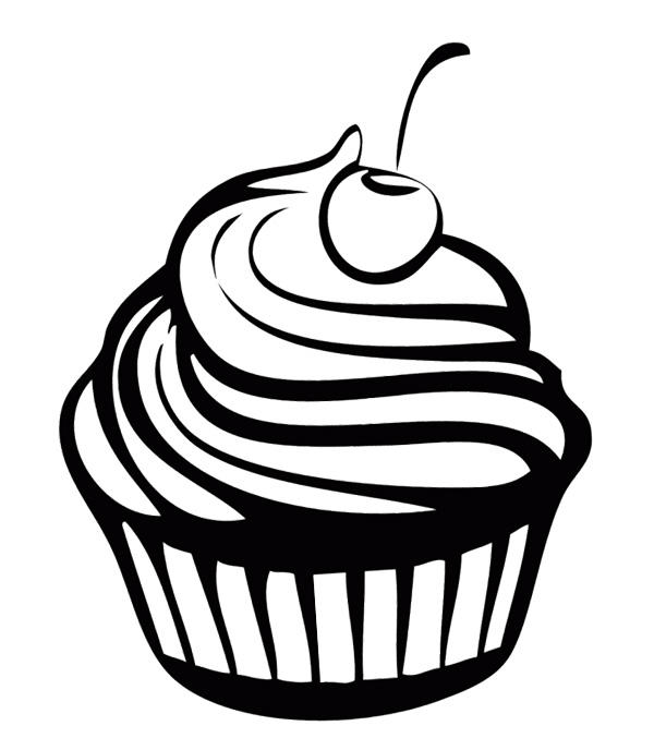 Free Happy Birthday Cupcake Coloring Pages 2