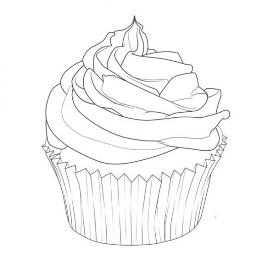 Free Happy Birthday Cupcake Coloring Pages
