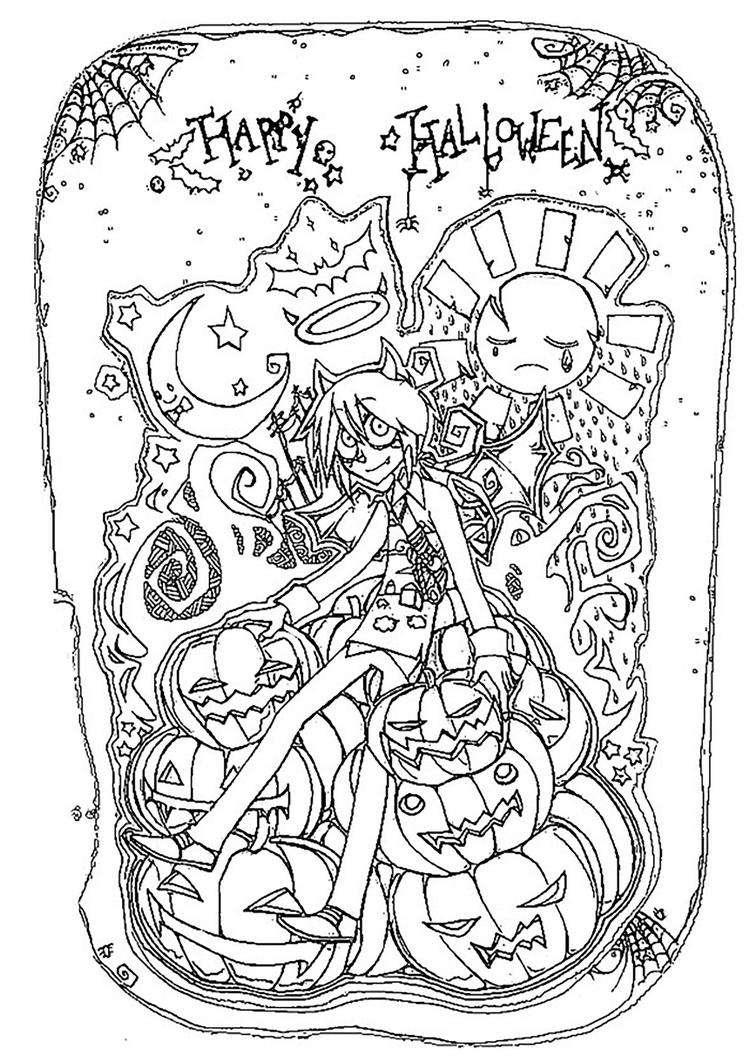 Free Happy Halloween Coloring Pages For Adults