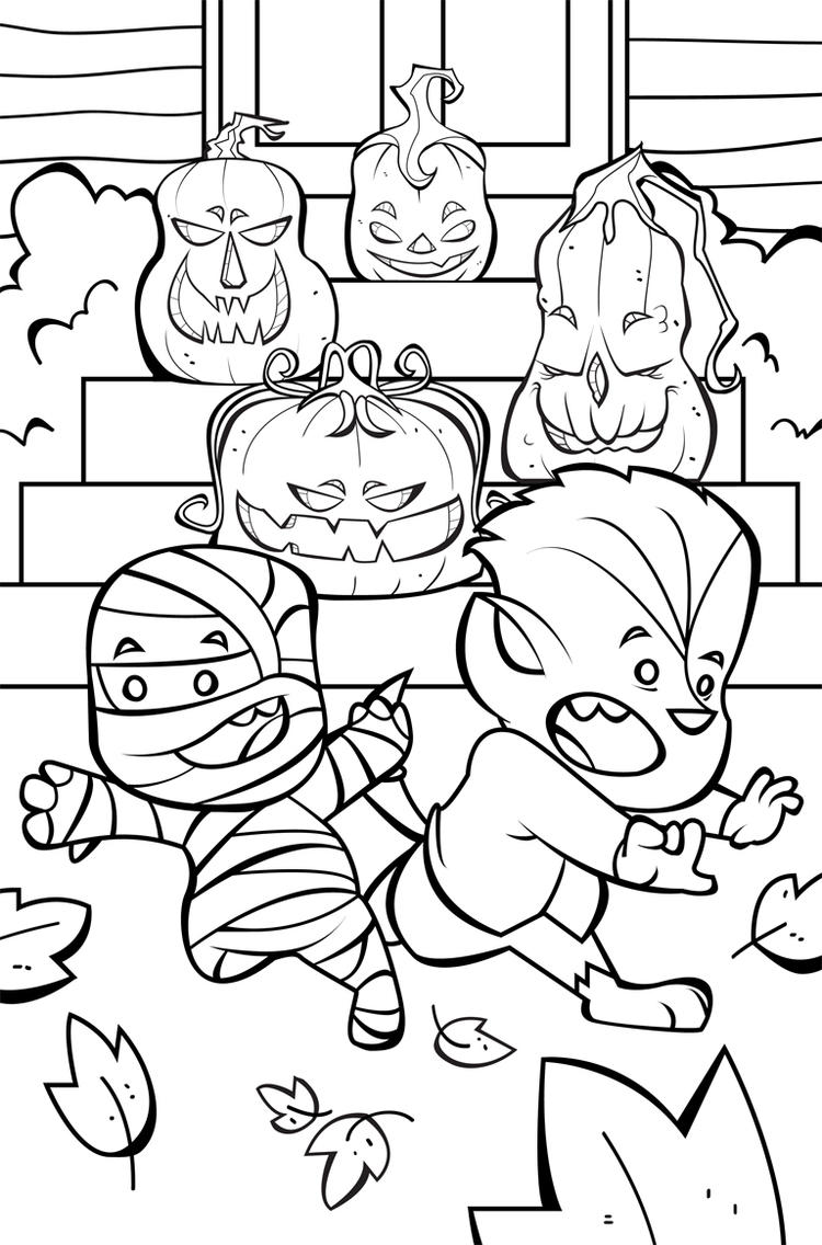 Free Happy Halloween Coloring Pages For Kids