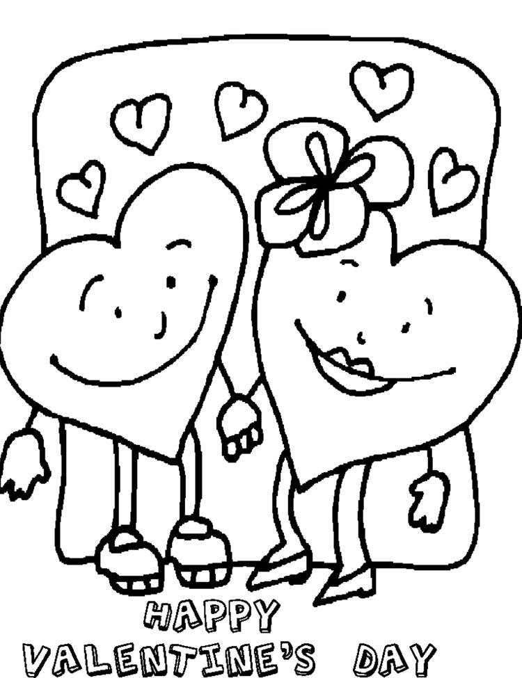 Free Happy Valentine Coloring Pages