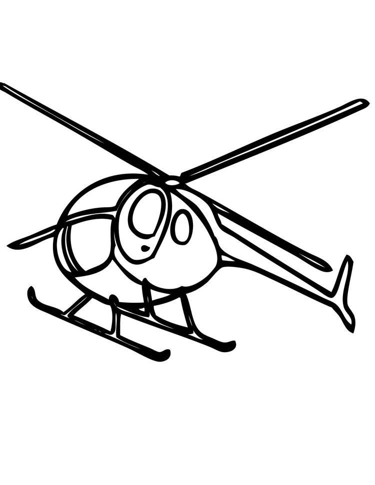 Free Helicopter Coloring Pages For Kids