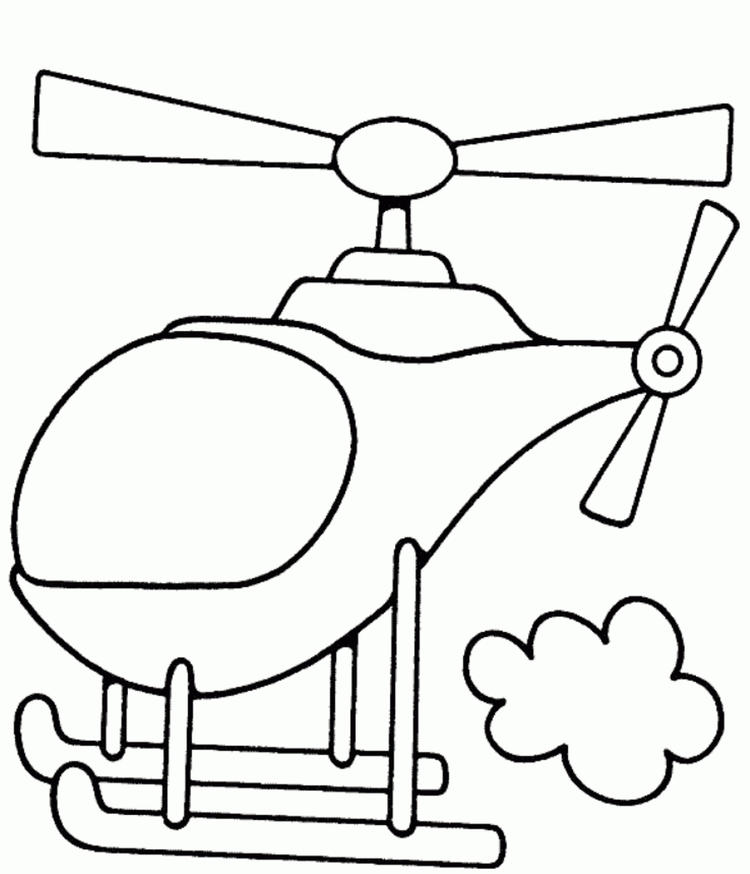 Free Helicopter Coloring Pages For Preschool