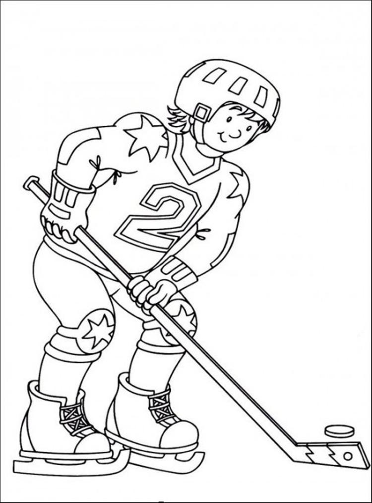 Free Hockey Coloring Pages For Kids