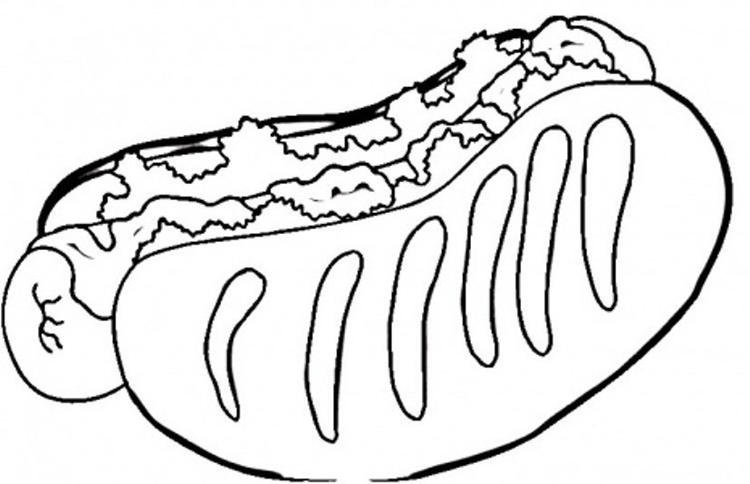 Free Hotdog Coloring Pages Of Food