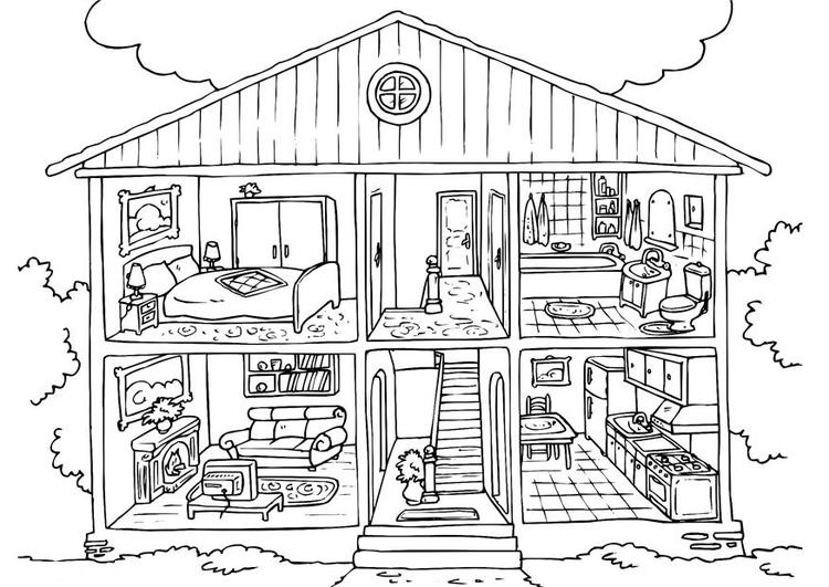 Free House Coloring Pages Printable
