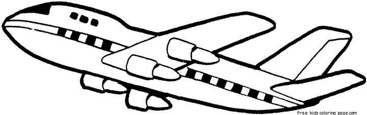 Free Kids Coloring Pages Boeing 707 Printbale