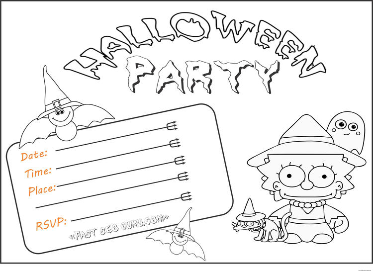 Free Kids Halloween Party Invitations Printable