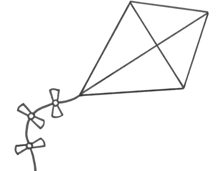 Free Kite Coloring Pages For Kids