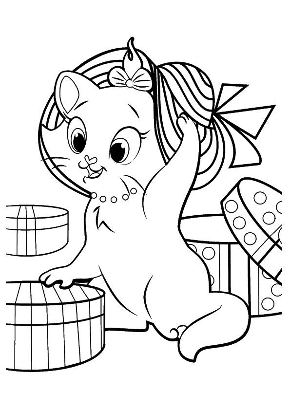 Free Kitten Coloring Pages For Kids
