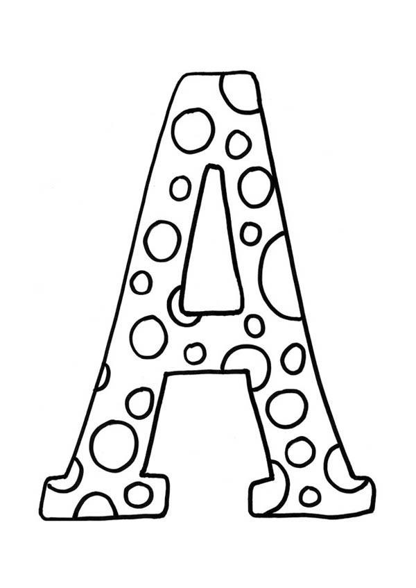 Free Letter A Coloring Pages For Kids