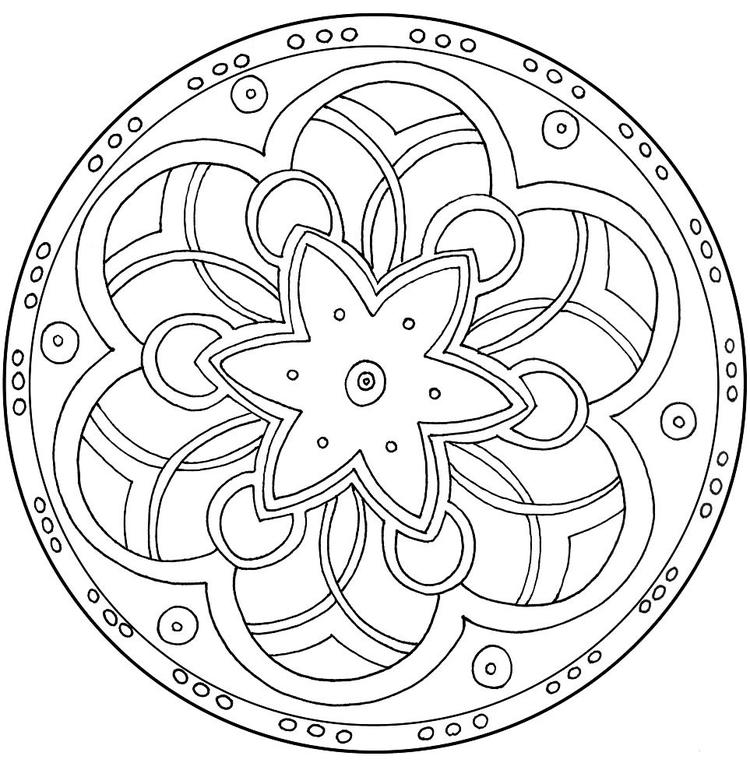 Free Mandala Coloring Pages For Adult