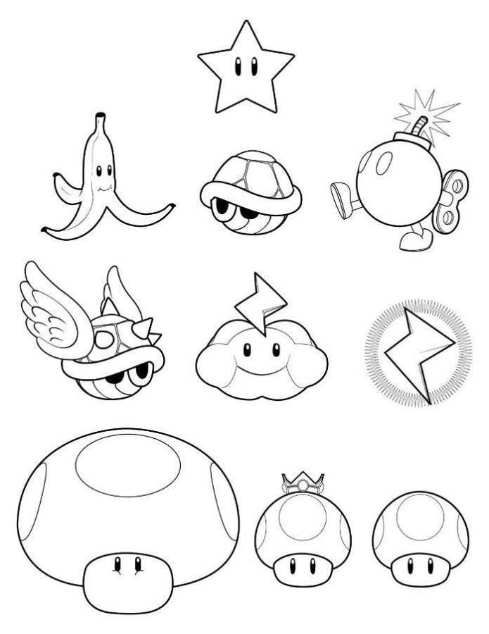 Free Mario Coloring Pages Games