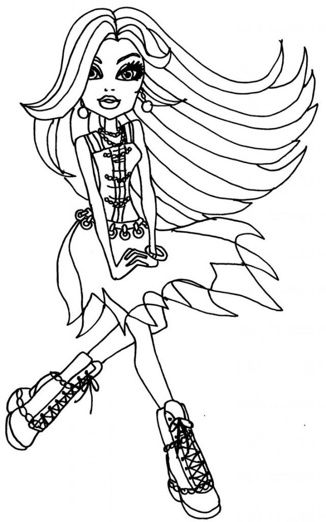Free Monster High Coloring Pages For Kids