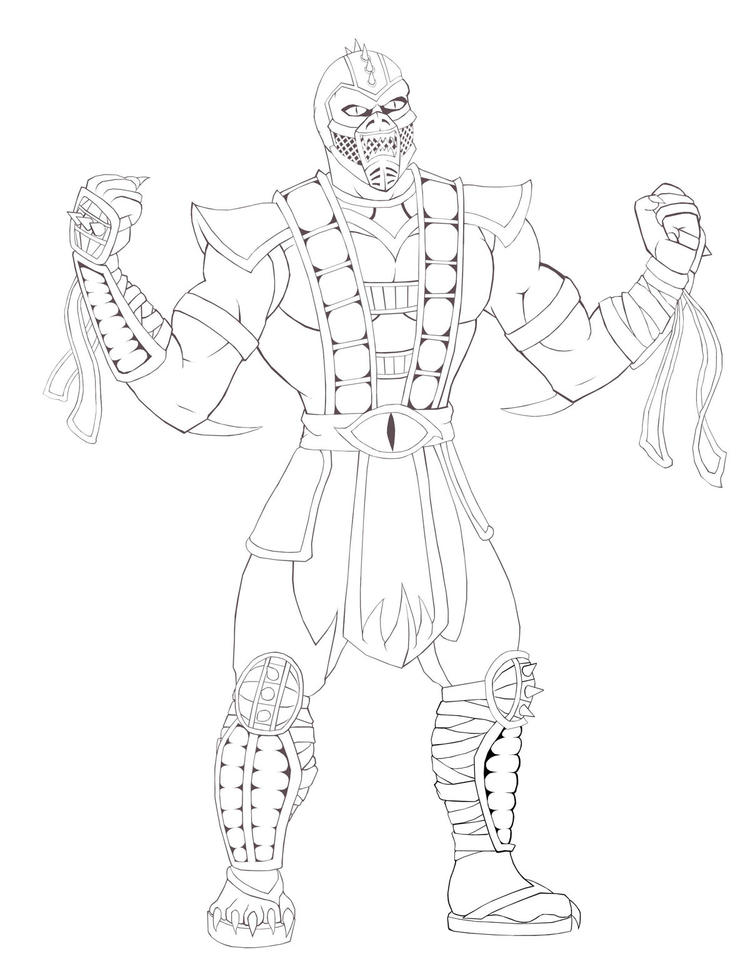 Free Mortal Kombat Coloring Pages For Kids Coloring Ideas
