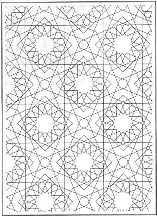 Free Mosaic Coloring Pages 1