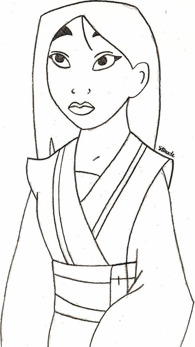 Free mulan coloring pages for kids