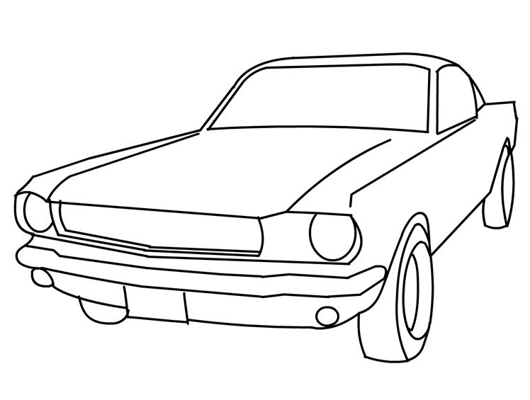Free Mustang Coloring Pages For Kids