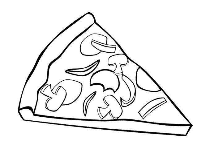 Free Pizza Coloring Pages For Kids