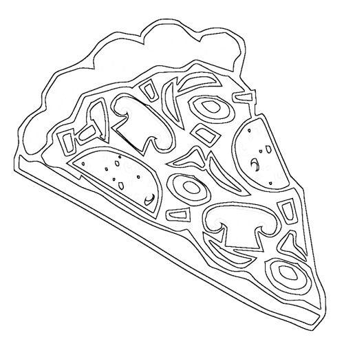 Free Pizza Coloring Pages To Print