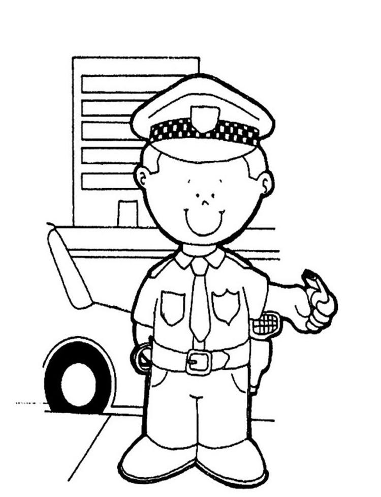 Free Police Coloring Pages For Kids