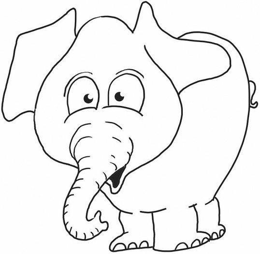 Free Preschool Coloring Pages Elephant