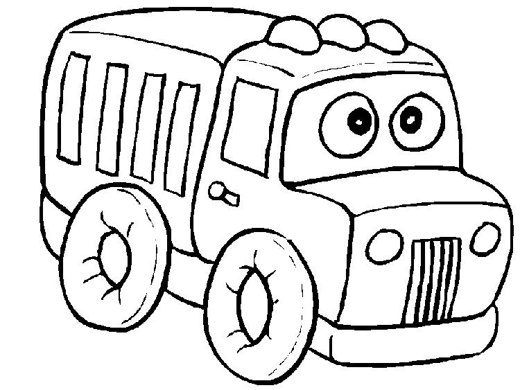 Free Preschool Coloring Pages Trucks