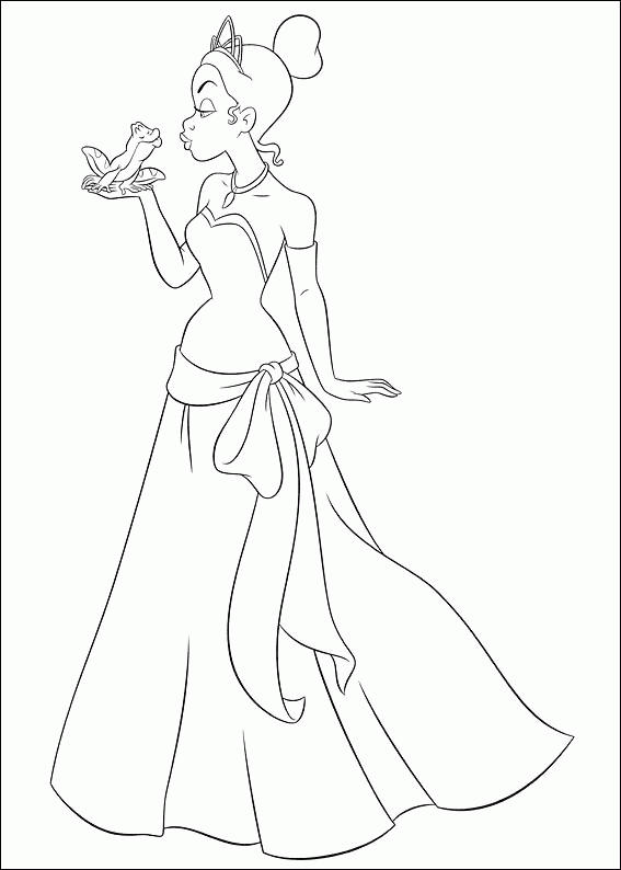 Free Princess And The Frog Coloring Pages