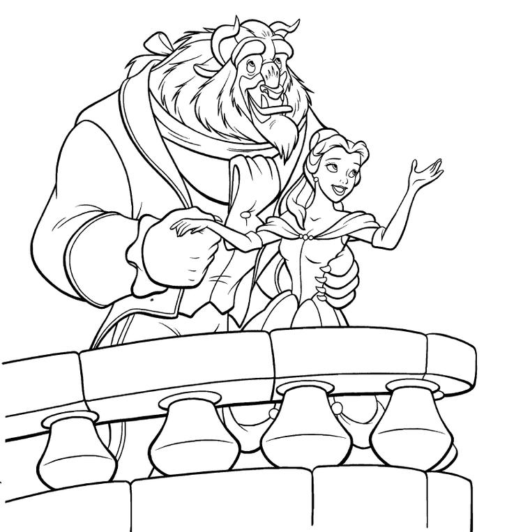 Free Princess Belle Coloring Pages