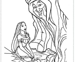 Free princess pocahontas coloring pages