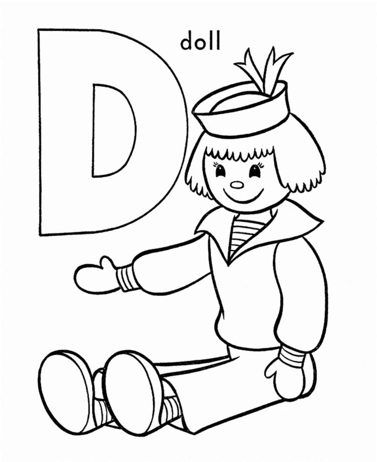 Free Printable Alphabet Coloring Pages D For Doll