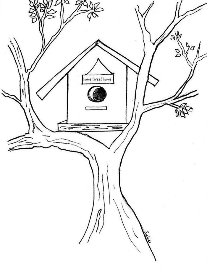 Free Printable Birdhouse Coloring Pages