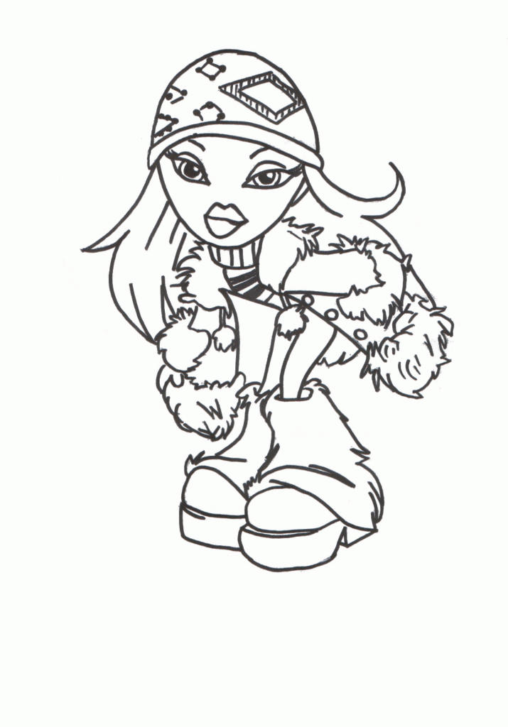Free Printable Bratz Coloring Pages For Kids 1